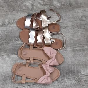 2 pair New Gap size 2Y summer sandals girl